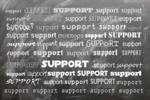 support chalkboard
