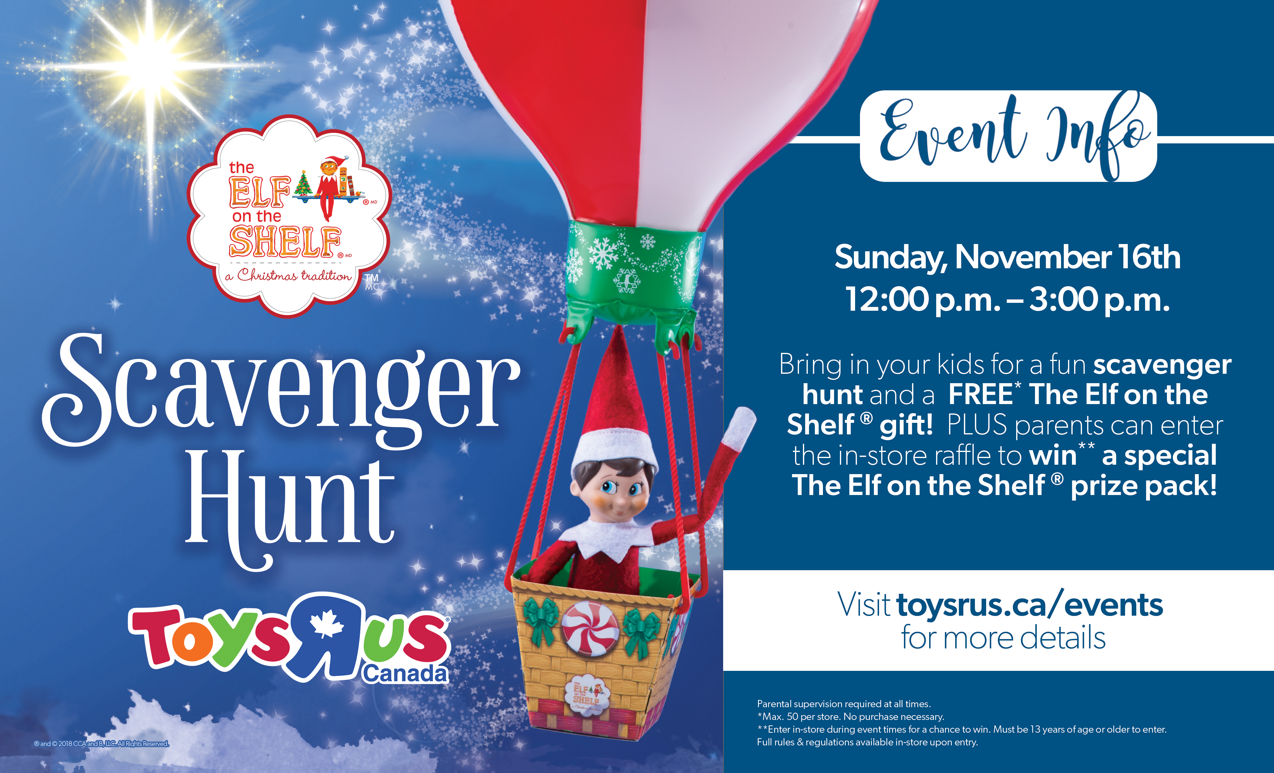 Instore Santa Visits & The Elf on The Shelf® Scavenger Hunt Logo