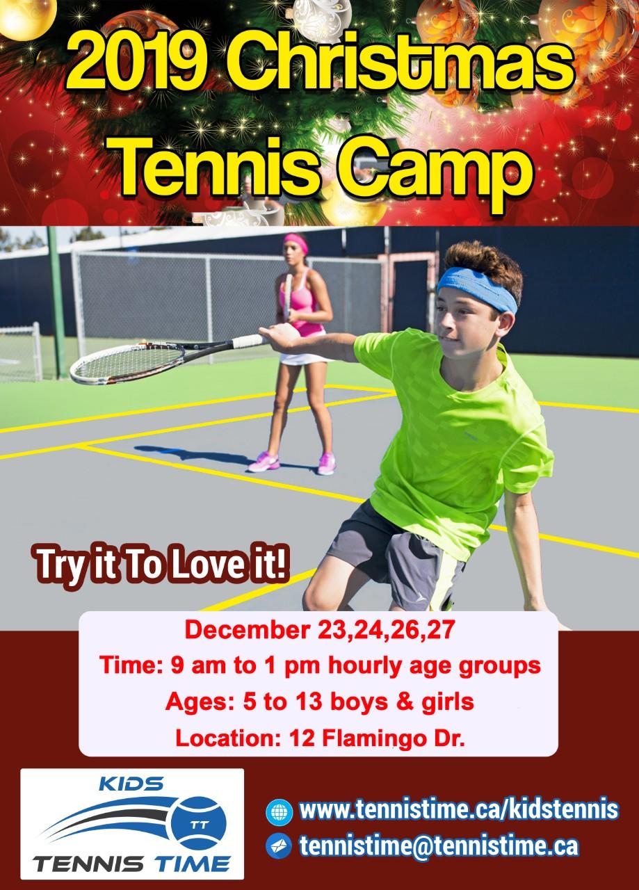 2019 Christmas Tennis Camp Logo