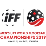 The Men's U19 World Floorball Championships Logo